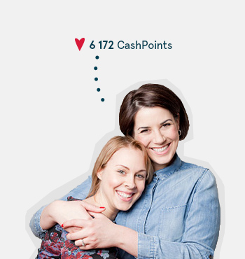 Image of two woman earning CashPoints