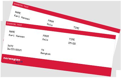 Gavekort flybilletter norwegian